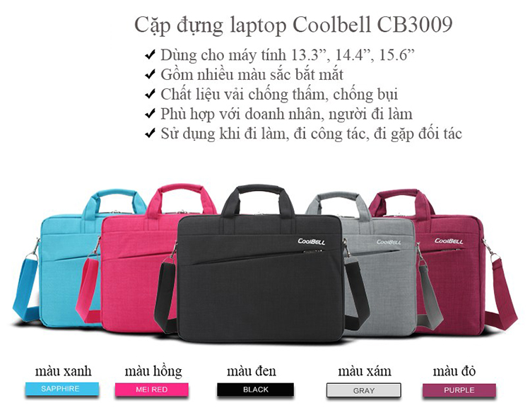 Cặp Laptop Coolbell CB3009 - Ghi