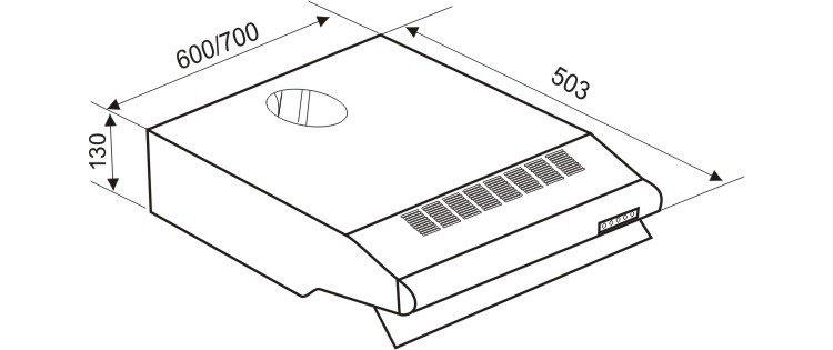 Máy Hút Khói Faster FS0870P (2 x 80W)  = 2.680.000 ₫