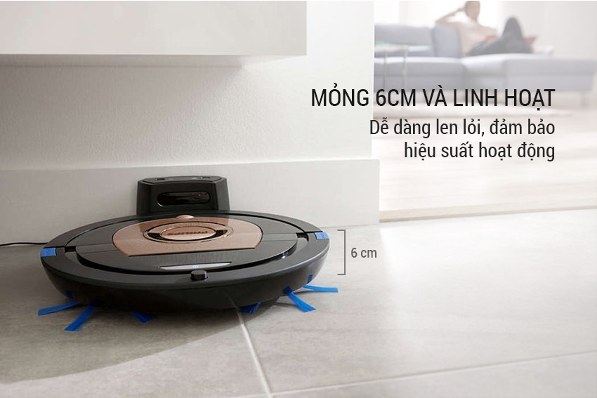 Robot Hút Bụi Philips FC8776 - Vàng Đồng  = 6.999.000 ₫