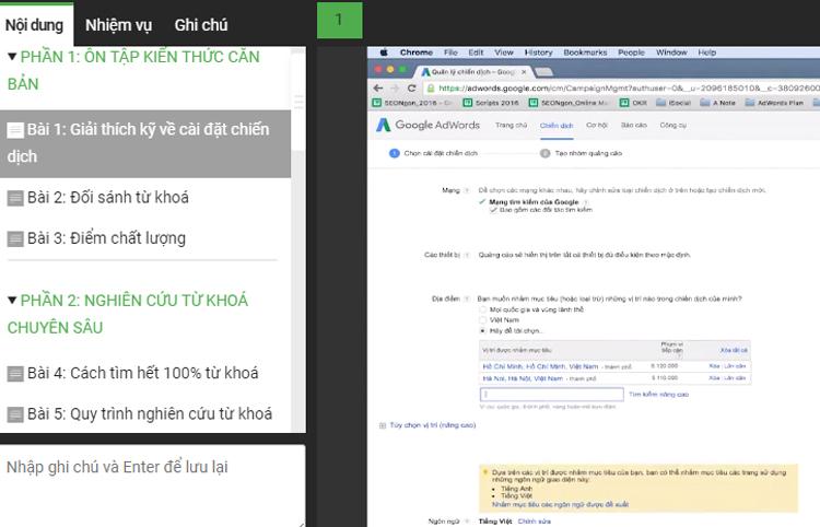 Khóa Học Kỹ Thuật Google Adwords Chuyên Sâu KYNA MKT48